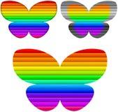Koloru motyli set Zdjęcia Royalty Free