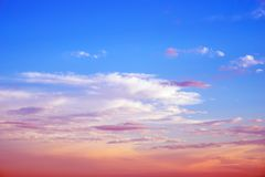 Koloru nieba lata backround obraz royalty free