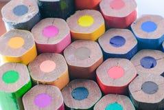 Koloru ołówek w rzędzie Fotografia Stock