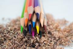 Koloru ołówka golenia Fotografia Royalty Free