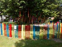 Koloru ogrodzenie Obrazy Stock