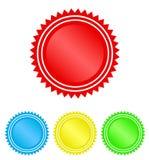 Koloru okręgu foki znaczka koronki projekt, akcyjna wektorowa ilustracja, ilustracja wektor