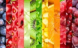 Koloru owoc, jagody i warzywa, Zdjęcie Royalty Free