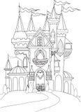 Koloru pałac książkowa bajka Zdjęcia Stock
