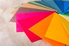 Koloru palety przewdonik Barwiony textured papier pobiera próbki swatch katalog Jaskrawi i soczyści tęcza kolory Piękny abstrakcj Zdjęcie Stock