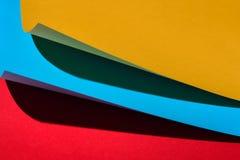 Koloru papierowy skład Fotografia Royalty Free
