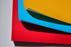 Koloru papierowy skład Zdjęcie Stock