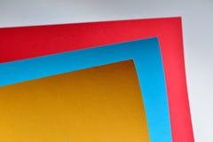 Koloru papierowy skład Obraz Stock
