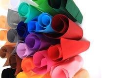 Koloru papieru rolki Obrazy Royalty Free