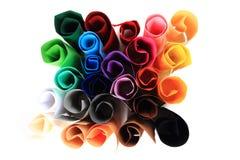 Koloru papieru rolki Zdjęcia Stock