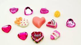 Koloru pełny słodki tło z sercem Obraz Stock
