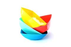 Koloru plastikowy puchar Zdjęcie Royalty Free