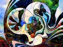 Koloru podziału tło ilustracja wektor