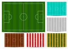 koloru pola piłka nożna Zdjęcie Stock