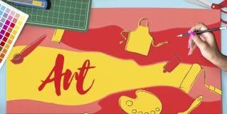 Koloru projekta sztuki grafiki Kreatywnie pojęcie Zdjęcia Stock