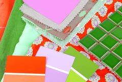 koloru projekta wybór dla wnętrza Zdjęcie Stock