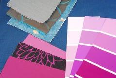 Koloru projekta wybór dla wnętrza Fotografia Stock