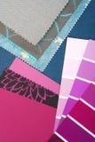 Koloru projekta wybór dla wnętrza Obrazy Royalty Free