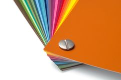 Koloru przewdonik z paletą farb próbki, Fotografia Stock