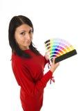 koloru przewdonika mienia kobieta Fotografia Stock