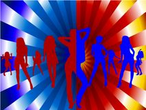 Koloru przyjęcie obraz royalty free
