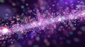 Koloru pyłu światło Błyska Abstrakcjonistyczną tło pętlę 4K ilustracja wektor