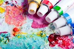 koloru różne palety tubki Obrazy Stock