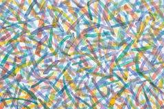 koloru ręka malująca woda Fotografia Royalty Free