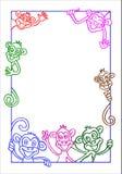 koloru ramowa ilustraci małpa Obraz Stock