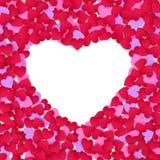 koloru ramowy serc papier Obrazy Stock