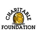 Koloru rocznika dobroczynnej podstawy emblemat ilustracja wektor