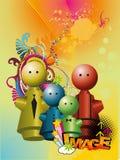 koloru rodziny ilustracja ilustracja wektor