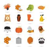 Koloru rolnictwa ustalona ikona Zdjęcia Royalty Free