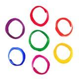 Koloru round akrylowe ramy Fotografia Royalty Free