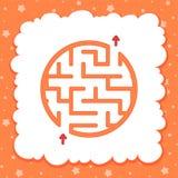 Koloru round prosty labitynt Żartuje worksheets Aktywności strona Gemowa łamigłówka dla dzieci Labirynt zagadka również zwrócić c ilustracja wektor
