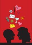 koloru rozmowy ilustracja Fotografia Royalty Free