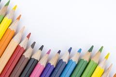 Koloru rysunek i ołówki Obraz Stock