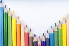 Koloru rysunek i ołówki Obrazy Stock