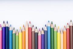 Koloru rysunek i ołówki Zdjęcia Royalty Free