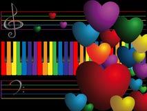 koloru serc klucze Fotografia Stock