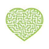 Koloru serca kształtny labitynt Gra dla dzieciaków i dorosłych Znajduje prawą ścieżkę Łamigłówka dla dzieci Labitynt zagadka Płas royalty ilustracja