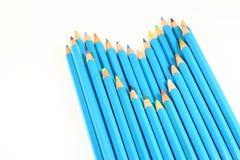 koloru serca ołówka kształt Obraz Royalty Free