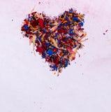 Koloru serce Obraz Stock