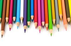 koloru set kolorowy ołówkowy Zdjęcia Royalty Free