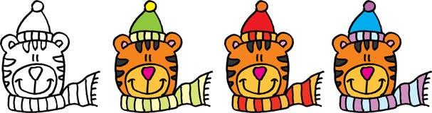 koloru setu tygrys Obrazy Stock