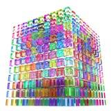 koloru sześcianu szkło Obrazy Royalty Free