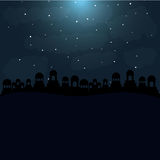 Koloru tło w pustynnej nocy Bethlehem Obraz Stock