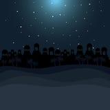 Koloru tło w pustynnej nocy Bethlehem Zdjęcie Stock