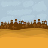 Koloru tło w zmierzch pustyni Bethlehem Zdjęcia Stock