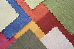 koloru tkaniny wielo- próbek tekstura Obrazy Royalty Free
